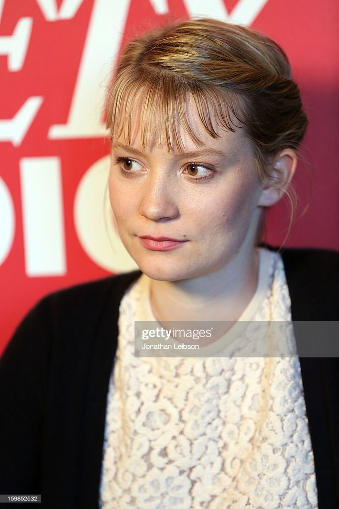 Actress Mia Wasikowska attends Day 3 of the Variety Studio At 2013 Sundance Film Festival on January 21, 2013 in Park City, Utah.