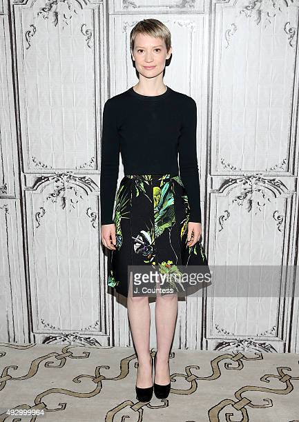 Actress Mia Wasikowska attends the AOL BUILD Presents 'Crimson Peak' at AOL Studios In New York on October 16 2015 in New York City