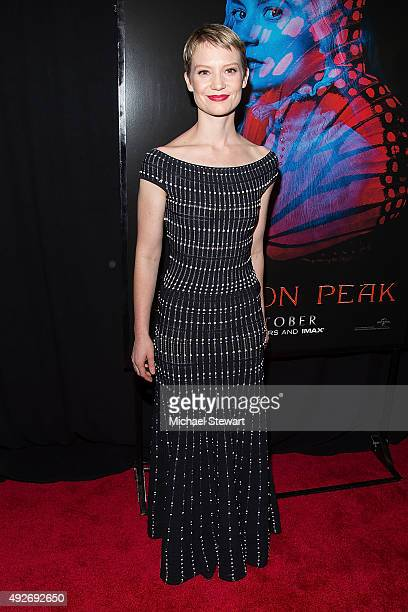 Actress Mia Wasikowska attends the 'Crimson Peak' New York premiere at AMC Loews Lincoln Square on October 14 2015 in New York City