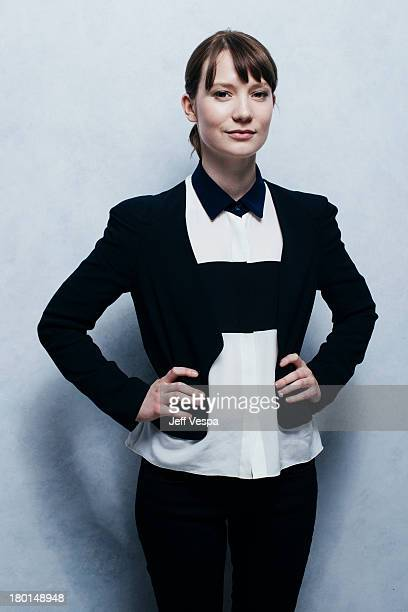 Actress Mia Wasikowska is photographed at the Toronto Film Festival on September 6 2013 in Toronto Ontario