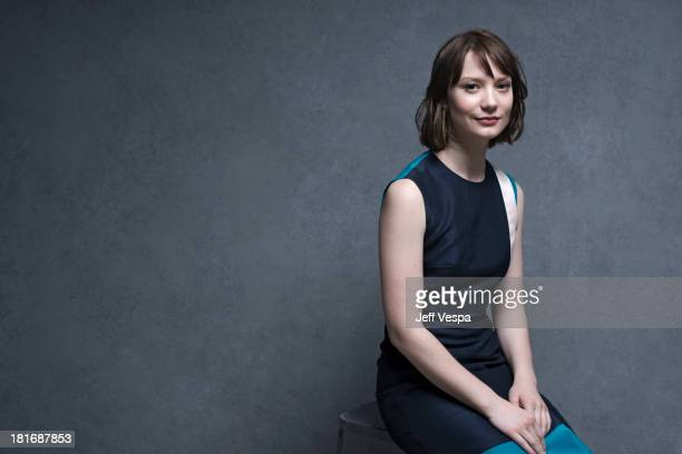 Actress Mia Wasikowska is photographed at the Toronto Film Festival on September 10 2013 in Toronto Ontario