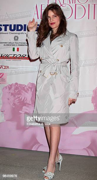 Actress Micaela Ramazzotti attends the '2010 Premio Afrodite' at the Studios on April 14 2010 in Rome Italy