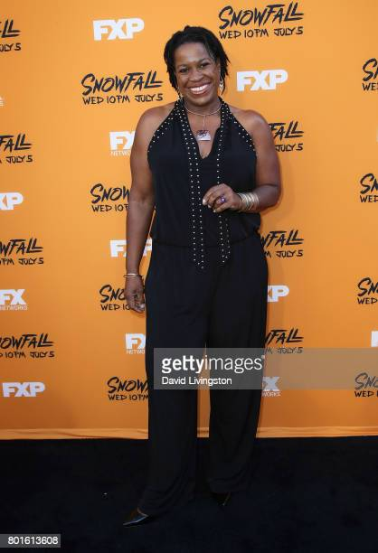 Actress Michael Hyatt attends the premiere of FX's 'Snowfall' at The Theatre at Ace Hotel on June 26 2017 in Los Angeles California