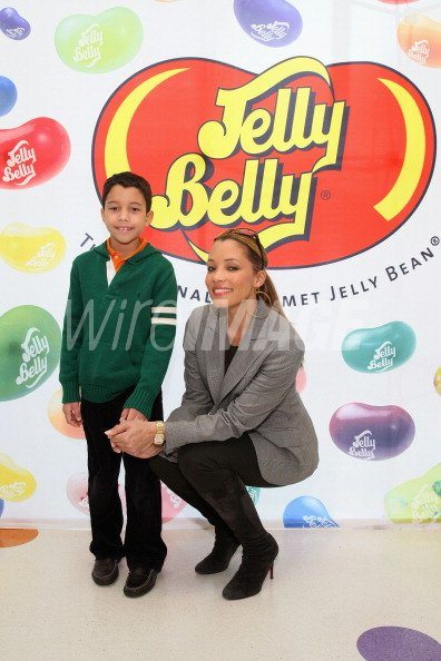 Actress Michael Michele and son J Brandon Rodriguez attend
