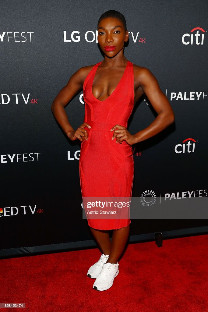 Actress Michaela Coel attends 'Black Mirror' during PaleyFest NY 2017 at The Paley Center for Media on October 6, 2017 in New York City.