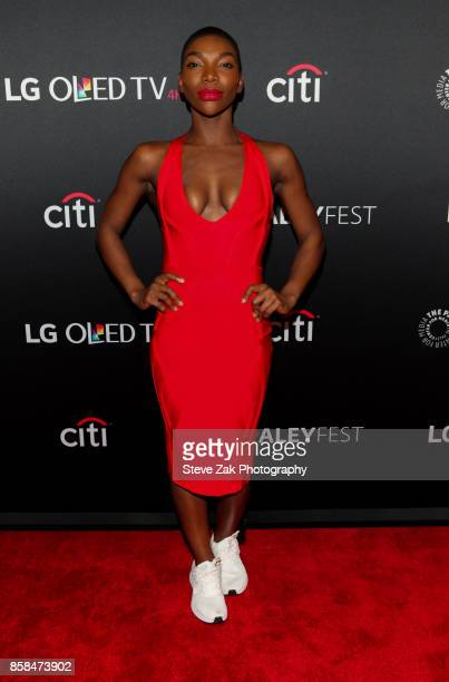 Actress Michaela Coel attends PaleyFest NY 2017 'Black Mirror' at The Paley Center for Media on October 6 2017 in New York City