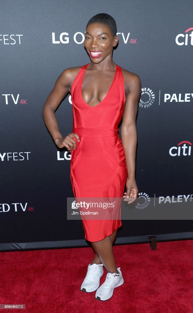 Actress Michaela Coel attends the PaleyFest NY 2017 'Black Mirror' screening at The Paley Center for Media on October 6, 2017 in New York City.