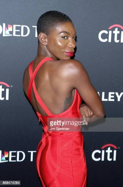 Actress Michaela Coel attends the PaleyFest NY 2017 'Black Mirror' screening at The Paley Center for Media on October 6 2017 in New York City