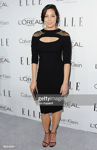 Actress Michaela Conlin arrives at ELLE Celebrates 20th Annual Women In Hollywood Event at Four Seasons Hotel Los Angeles at Beverly Hills on October...