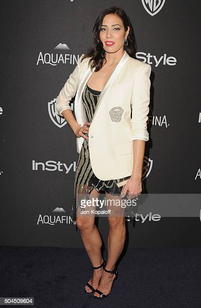 Actress Michaela Conlin arrives at the 2016 InStyle And Warner Bros 73rd Annual Golden Globe Awards PostParty at The Beverly Hilton Hotel on January...