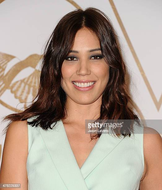 Actress Michaela Conlin attends the LoveGold event at Chateau Marmont on February 26 2014 in Los Angeles California