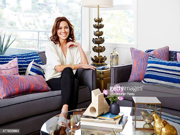 Actress Michaela Conlin is photographed at her home for Domaine Home on April 23 2015 in Los Angeles California