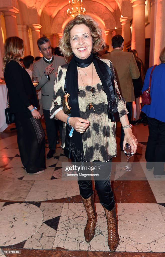 Actress Michaela May attends the Bavaria Reception at the Kuenstlerhaus as part of the Munich Film Festival 2014 on July 1, 2014 in Munich, Germany.