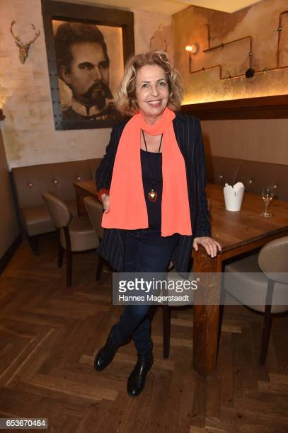 Actress Michaela May during the NdF after work press cocktail at Parkcafe on March 15 2017 in Munich Germany