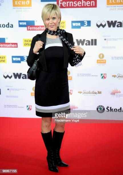 Actress Michaela Schaffrath poses at the Jazz Echo 2010 at the Jahrhunderthalle on May 5 2010 in Bochum Germany