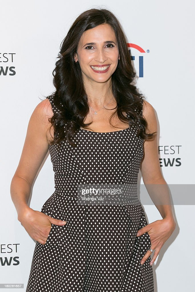 Actress <a gi-track='captionPersonalityLinkClicked' href=/galleries/search?phrase=Michaela+Watkins&family=editorial&specificpeople=5985801 ng-click='$event.stopPropagation()'>Michaela Watkins</a> arrives at PaleyFestPreviews Fall TV ABC's 'Trophy Wife' And 'Back In The Game' at The Paley Center for Media on September 10, 2013 in Beverly Hills, California.