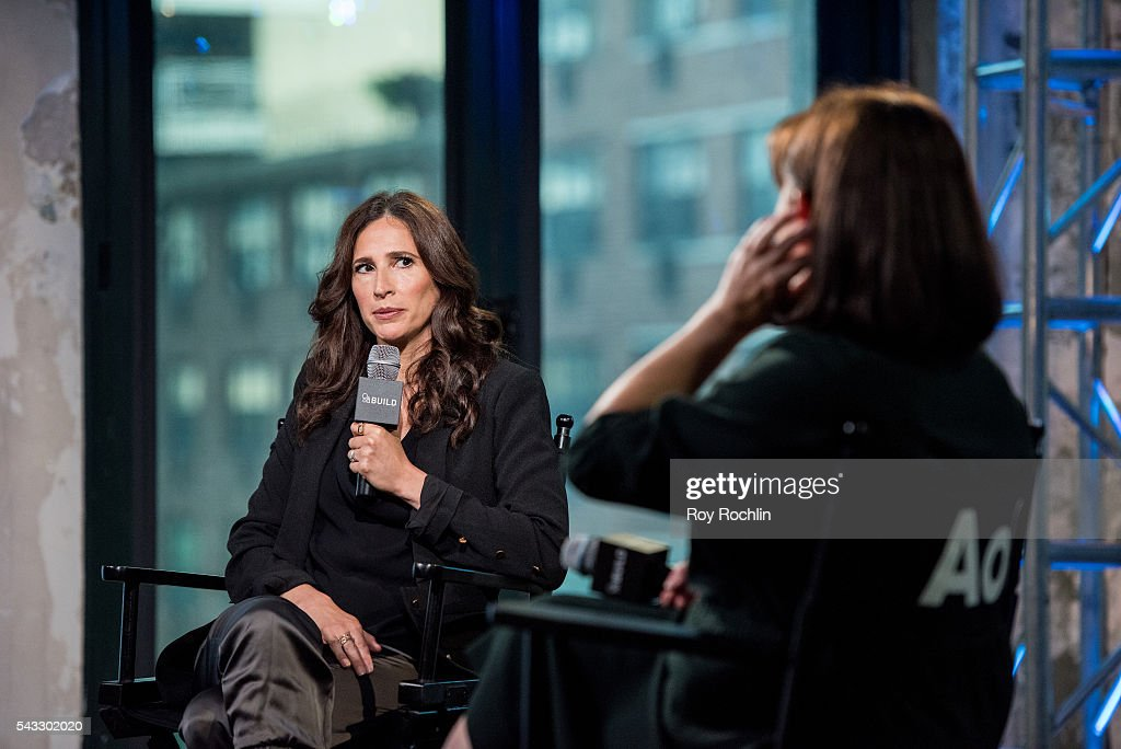 Actress <a gi-track='captionPersonalityLinkClicked' href=/galleries/search?phrase=Michaela+Watkins&family=editorial&specificpeople=5985801 ng-click='$event.stopPropagation()'>Michaela Watkins</a> discusses 'Casual' with AOL Build at AOL Studios In New York on June 27, 2016 in New York City.
