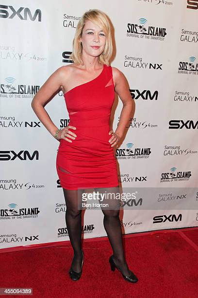 Actress Michal Sinnott arrives to support Samsung's SOS Island Survival of the Smartest wrap party and winner announcement on Tuesday Dec 10 at The W...