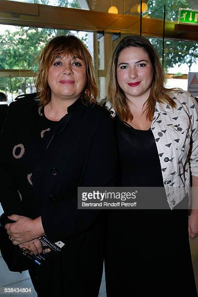 Actress Michele Bernier and her daughter Charlotte Gaccio attend the Concert of Patrick Bruel at Theatre Du Chatelet on June 6 2016 in Paris France
