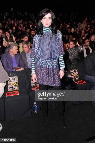 Actress Michele Hicks attends the Anna Sui fashion show during MercedesBenz Fashion Week Fall 2014 at The Theatre at Lincoln Center on February 12...