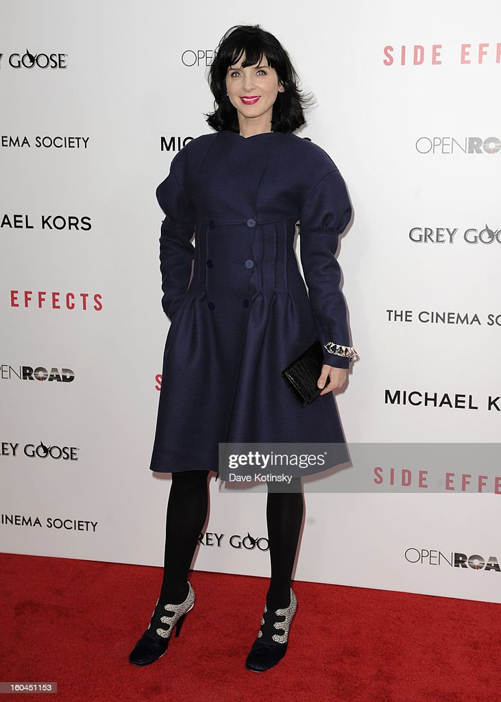Actress Michele Hicks attends the premiere of 'Side Effects' hosted by Open Road with The Cinema Society and Michael Kors at AMC Lincoln Square Theater on January 31, 2013 in New York City.