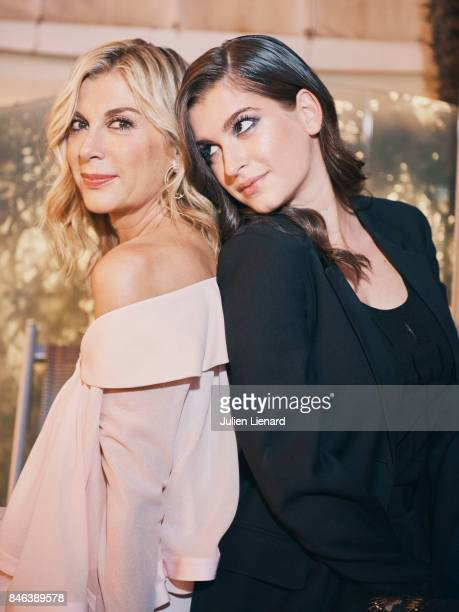 Actress Michele Laroque and her daughter Oriane Deschamps are photographed for Self Assignment on May 21 2017 in Cannes France