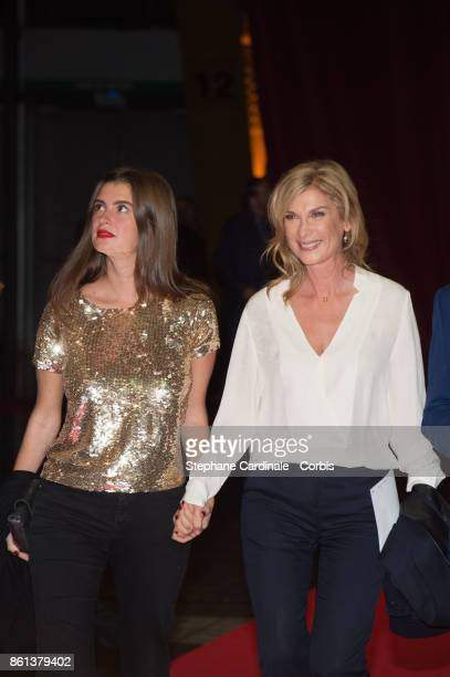 Actress Michele Laroque and her daughter Oriane Deschamps attend the Opening Ceremony of the 9th Film Festival Lumiere on October 14 2017 in Lyon...