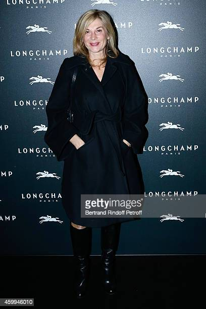 Actress Michele Laroque attends the Longchamp Elysees 'Lights On Party' Boutique Launch on December 4 2014 in Paris France