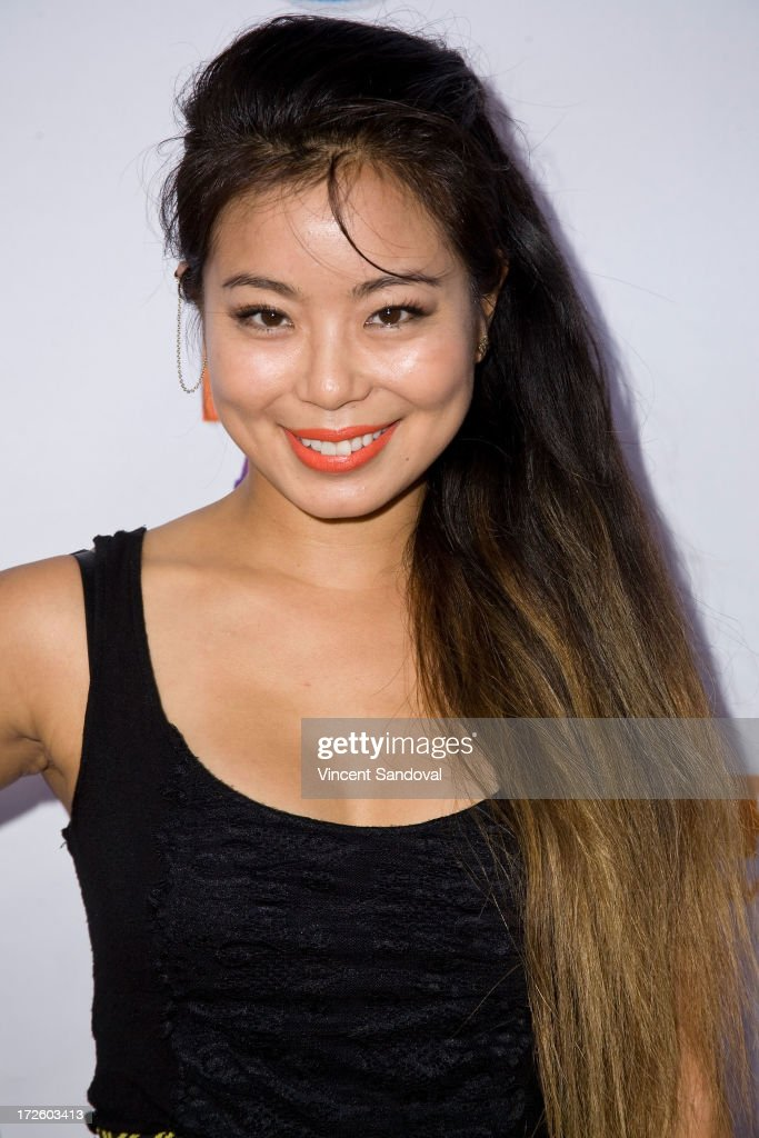 Actress Michelle Ang attends the Adam Lambert performance and check donation presentation to The Trevor Project for 'Live Proud' Campaign at Playhouse Hollywood on July 3, 2013 in Los Angeles, California.