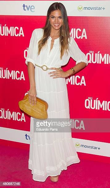 Actress Michelle Calvo attends 'Solo Quimica' premiere at Palafox cinema on July 14 2015 in Madrid Spain