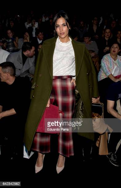 Actress Michelle Calvo attends the front row of Angel Schelesser show during Mercedes Benz Fashion Week Madrid Autumn / Winter 2017 at Ifema on...