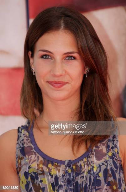 Actress Michelle Carpente attends a photocall during the 2009 Giffoni Experience on July 15 2009 in Salerno Italy