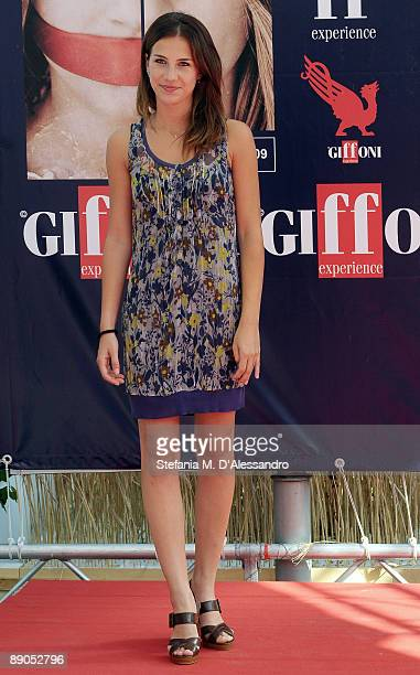 Actress Michelle Carpente attends the photocall during the Giffoni Experience on July 15 2009 in Salerno Italy