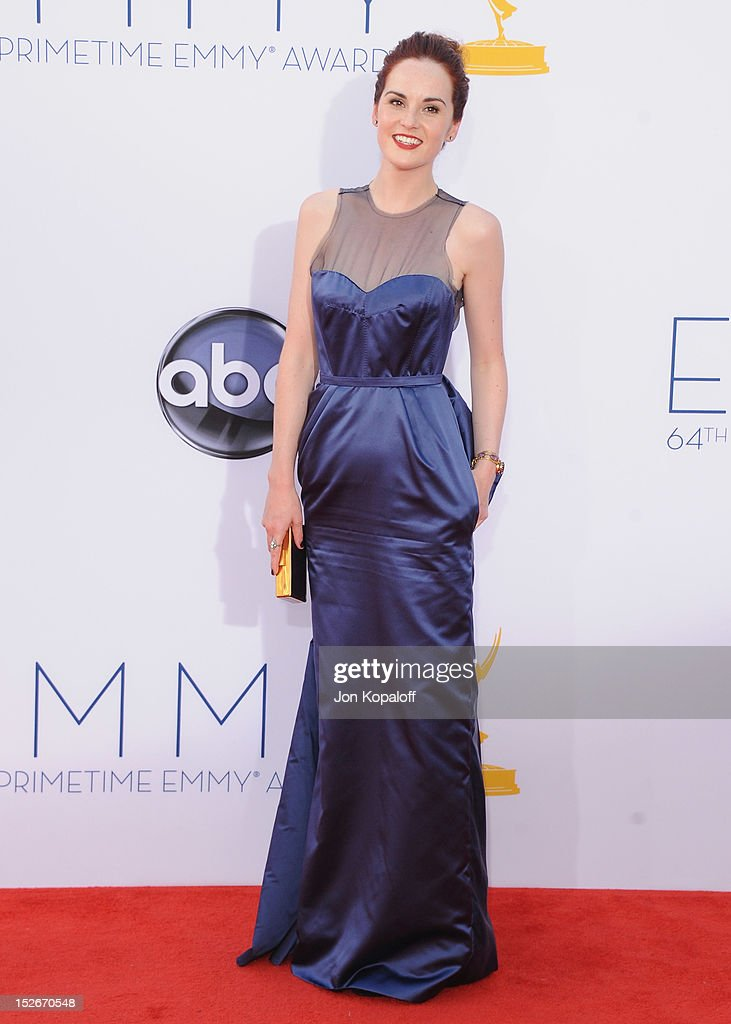 Actress <a gi-track='captionPersonalityLinkClicked' href=/galleries/search?phrase=Michelle+Dockery&family=editorial&specificpeople=4047702 ng-click='$event.stopPropagation()'>Michelle Dockery</a> arrives at the 64th Primetime Emmy Awards at Nokia Theatre L.A. Live on September 23, 2012 in Los Angeles, California.