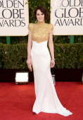 Actress Michelle Dockery arrives at the 70th Annual Golden Globe Awards held at The Beverly Hilton Hotel on January 13 2013 in Beverly Hills...