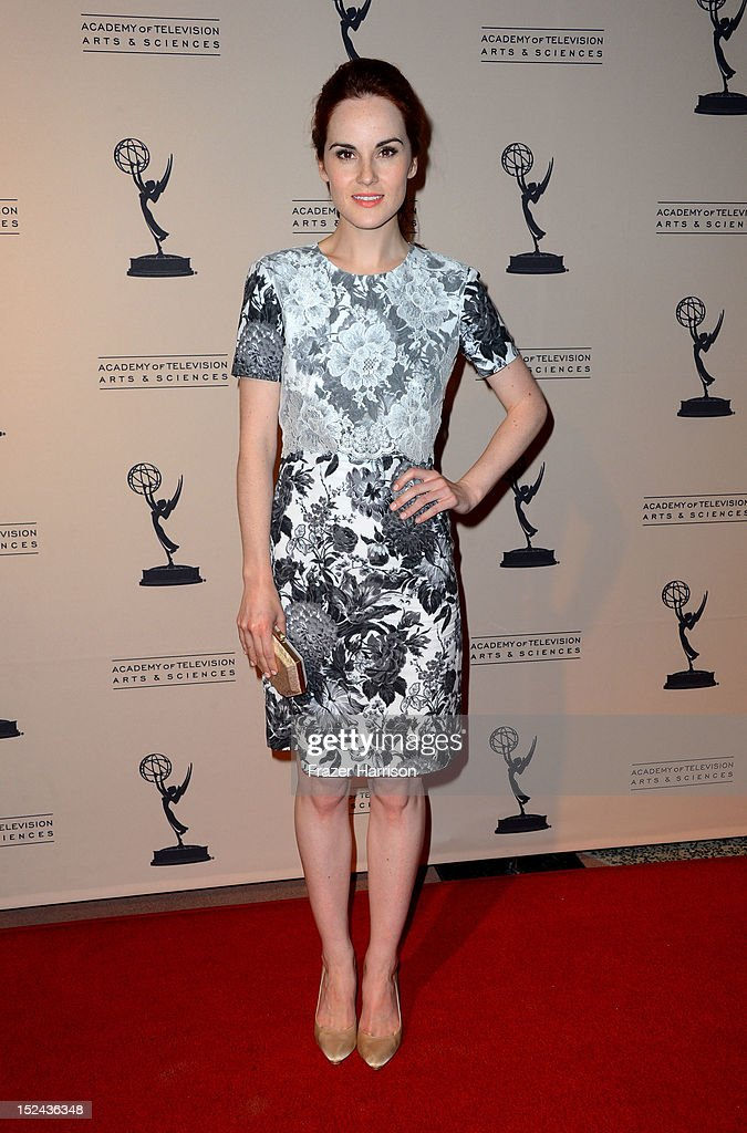 Actress <a gi-track='captionPersonalityLinkClicked' href=/galleries/search?phrase=Michelle+Dockery&family=editorial&specificpeople=4047702 ng-click='$event.stopPropagation()'>Michelle Dockery</a> arrives at The Academy Of Television Arts & Sciences Writer Nominees' 64th Primetime Emmy Awards Reception at Academy of Television Arts & Sciences on September 20, 2012 in North Hollywood, California.