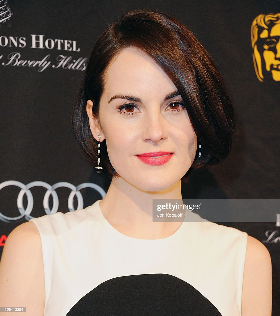 Actress <a gi-track='captionPersonalityLinkClicked' href=/galleries/search?phrase=Michelle+Dockery&family=editorial&specificpeople=4047702 ng-click='$event.stopPropagation()'>Michelle Dockery</a> arrives at the BAFTA Los Angeles Awards Season Tea Party at Four Seasons Hotel Los Angeles at Beverly Hills on January 12, 2013 in Beverly Hills, California.