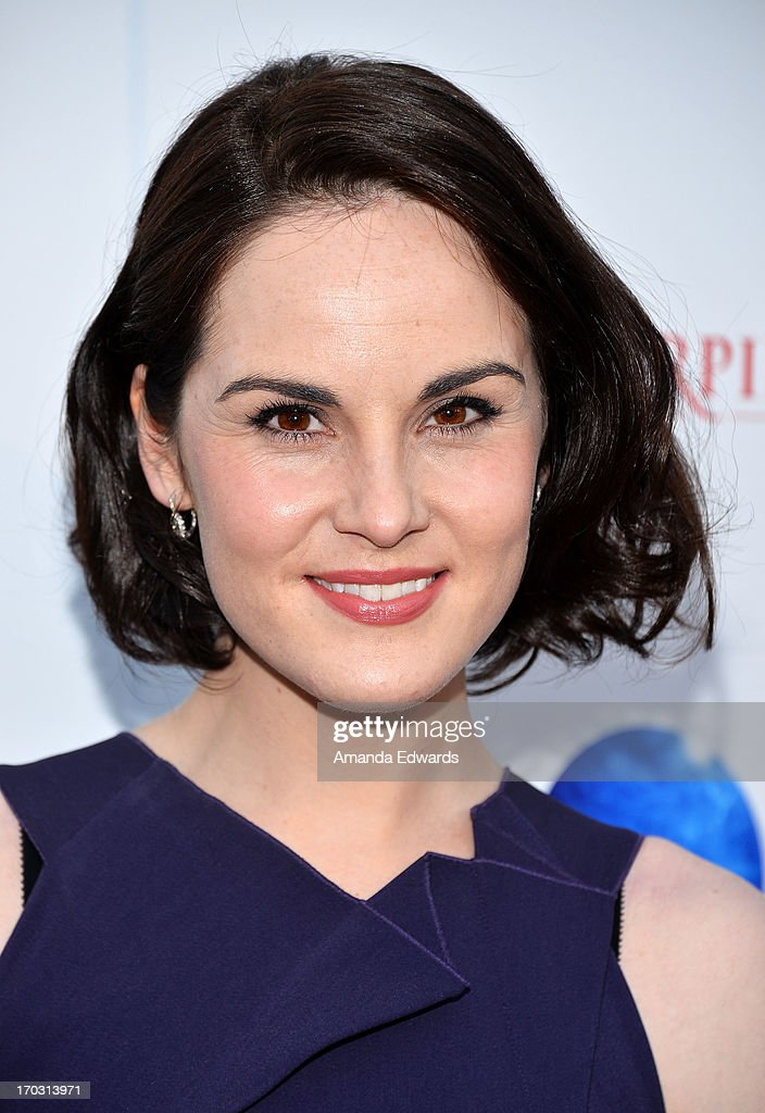 Actress <a gi-track='captionPersonalityLinkClicked' href=/galleries/search?phrase=Michelle+Dockery&family=editorial&specificpeople=4047702 ng-click='$event.stopPropagation()'>Michelle Dockery</a> arrives at the 'Downton Abbey' talent panel Q&A at the Leonard H. Goldenson Theatre on June 10, 2013 in North Hollywood, California.