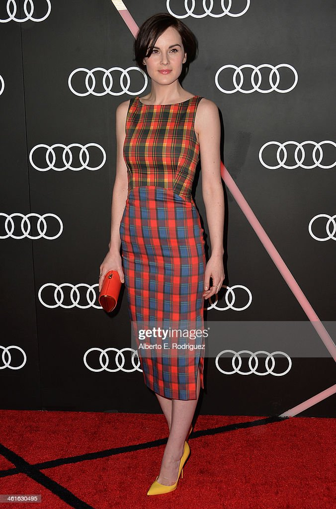 Actress Michelle Dockery arrives to Audi Celebrates Golden Globes Weekend at Cecconi's Restaurant on January 9, 2014 in Los Angeles, California.