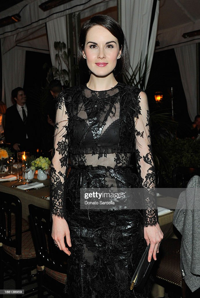 Actress <a gi-track='captionPersonalityLinkClicked' href=/galleries/search?phrase=Michelle+Dockery&family=editorial&specificpeople=4047702 ng-click='$event.stopPropagation()'>Michelle Dockery</a> attends a dinner in honor of Erdem hosted by Lisa Love and presented by NARS at Chateau Marmont on November 14, 2013 in Los Angeles, California.