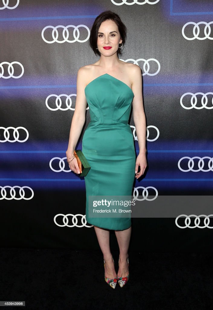 Actress <a gi-track='captionPersonalityLinkClicked' href=/galleries/search?phrase=Michelle+Dockery&family=editorial&specificpeople=4047702 ng-click='$event.stopPropagation()'>Michelle Dockery</a> attends Audi Celebrates Emmys' Week 2014 at Cecconi's Restaurant on August 21, 2014 in Los Angeles, California.