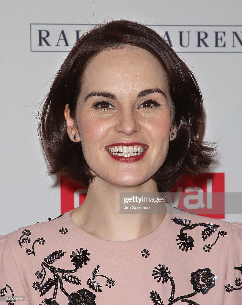 Actress Michelle Dockery attends 'Downton Abbey' Season Four cast photo call at Millenium Hotel on December 10, 2013 in New York City.