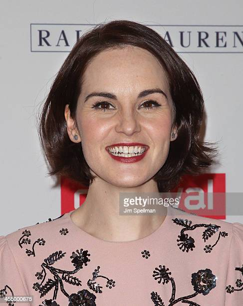 Actress Michelle Dockery attends 'Downton Abbey' Season Four cast photo call at Millenium Hotel on December 10 2013 in New York City