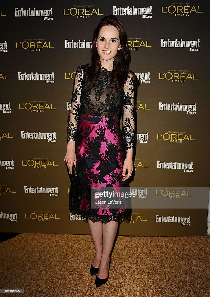 Actress <a gi-track='captionPersonalityLinkClicked' href=/galleries/search?phrase=Michelle+Dockery&family=editorial&specificpeople=4047702 ng-click='$event.stopPropagation()'>Michelle Dockery</a> attends the 2012 Entertainment Weekly pre-Emmy party at Fig & Olive Melrose Place on September 21, 2012 in West Hollywood, California.