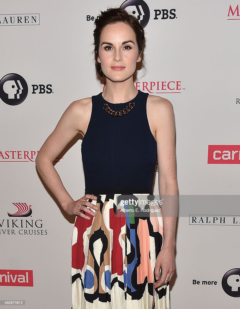 Actress <a gi-track='captionPersonalityLinkClicked' href=/galleries/search?phrase=Michelle+Dockery&family=editorial&specificpeople=4047702 ng-click='$event.stopPropagation()'>Michelle Dockery</a> attends the 2014 Summer TCA Tour 'Downton Abbey' Season 5 photocall at The Beverly Hilton Hotel on July 22, 2014 in Beverly Hills, California.