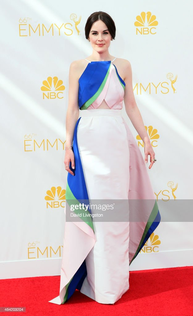 Actress <a gi-track='captionPersonalityLinkClicked' href=/galleries/search?phrase=Michelle+Dockery&family=editorial&specificpeople=4047702 ng-click='$event.stopPropagation()'>Michelle Dockery</a> attends the 66th Annual Primetime Emmy Awards at the Nokia Theatre L.A. Live on August 25, 2014 in Los Angeles, California.
