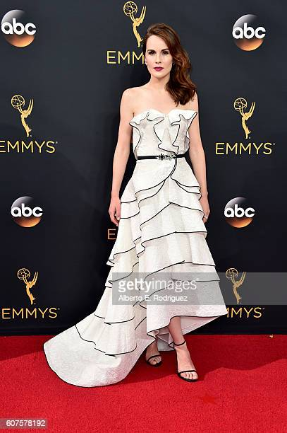 Actress Michelle Dockery attends the 68th Annual Primetime Emmy Awards at Microsoft Theater on September 18 2016 in Los Angeles California