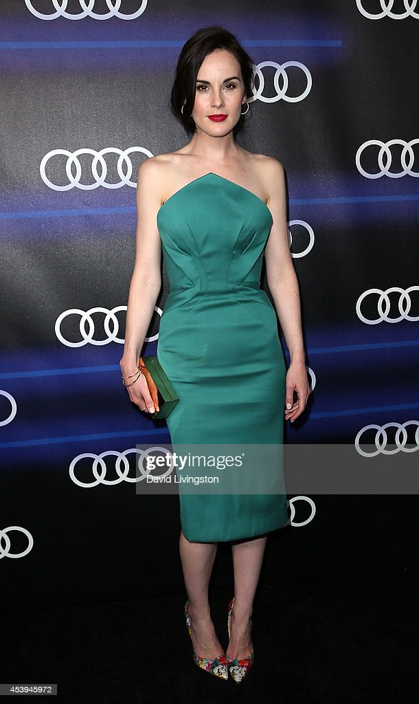 Actress <a gi-track='captionPersonalityLinkClicked' href=/galleries/search?phrase=Michelle+Dockery&family=editorial&specificpeople=4047702 ng-click='$event.stopPropagation()'>Michelle Dockery</a> attends the Audi celebration of Emmys Week 2014 at Cecconi's Restaurant on August 21, 2014 in Los Angeles, California.