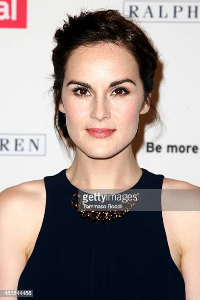 Actress Michelle Dockery attends the 'Downton Abbey' Los Angeles photo call held at The Beverly Hilton Hotel on July 22 2014 in Beverly Hills...