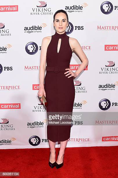 Actress Michelle Dockery attends The 'Downton Abbey' Series Season Six Premiere at Millenium Hotel on December 7 2015 in New York City